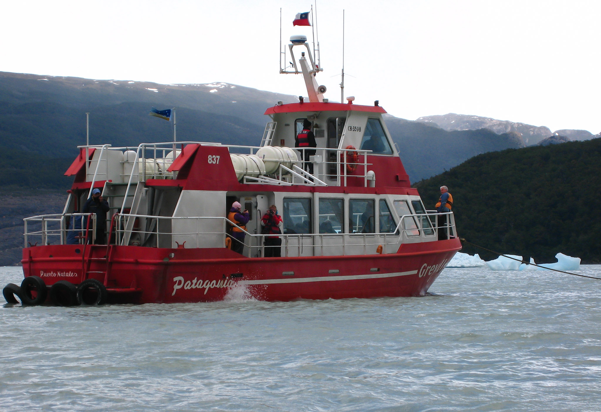 Boat Ride Grey Glacier Patagonia Chile