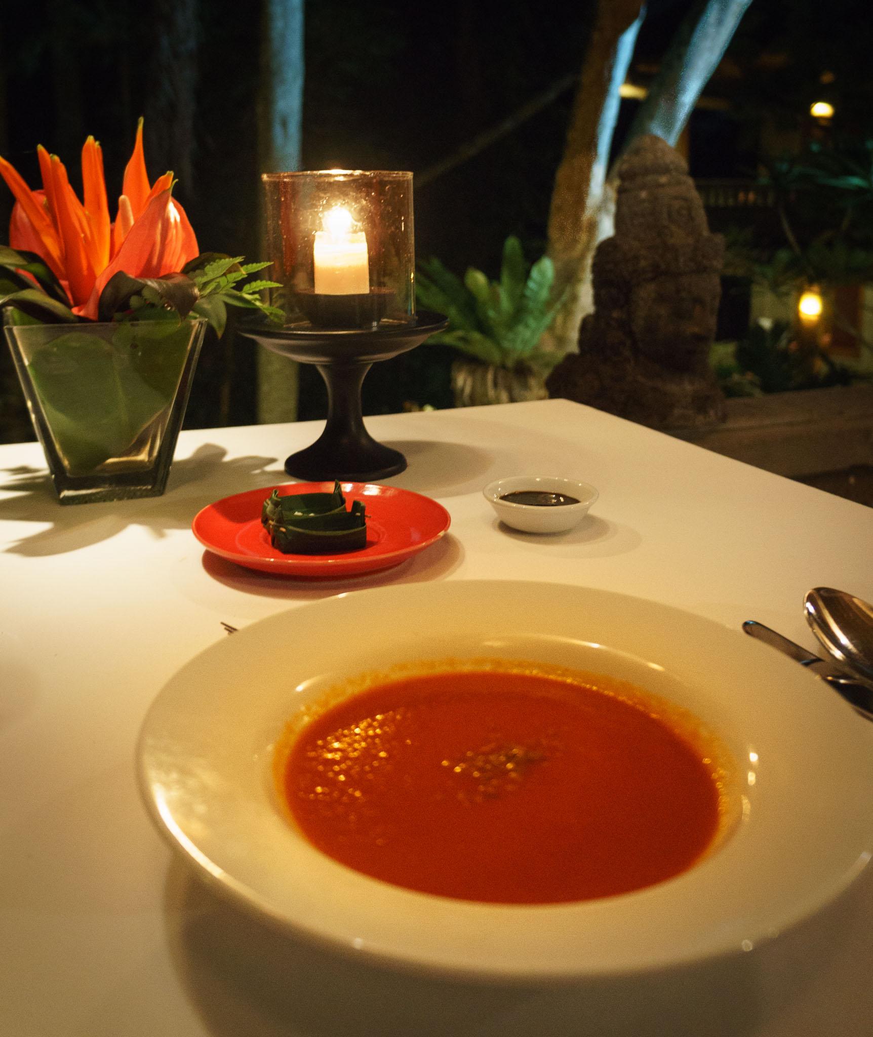 Dinner Soup One World Retreats Ubud Bali