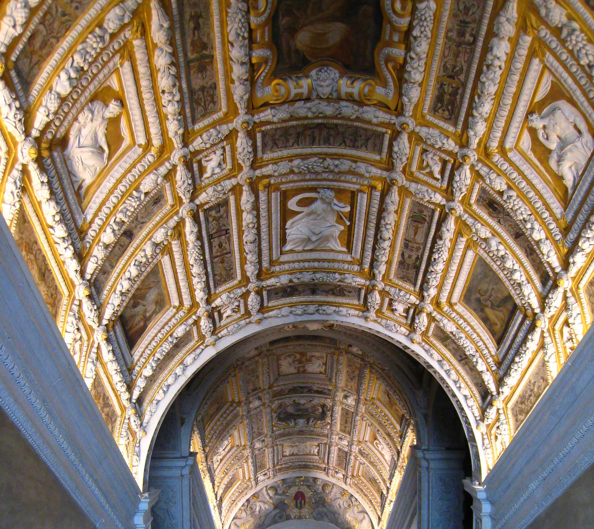 Doge's Palace Ceiling Gilded Venice Italy
