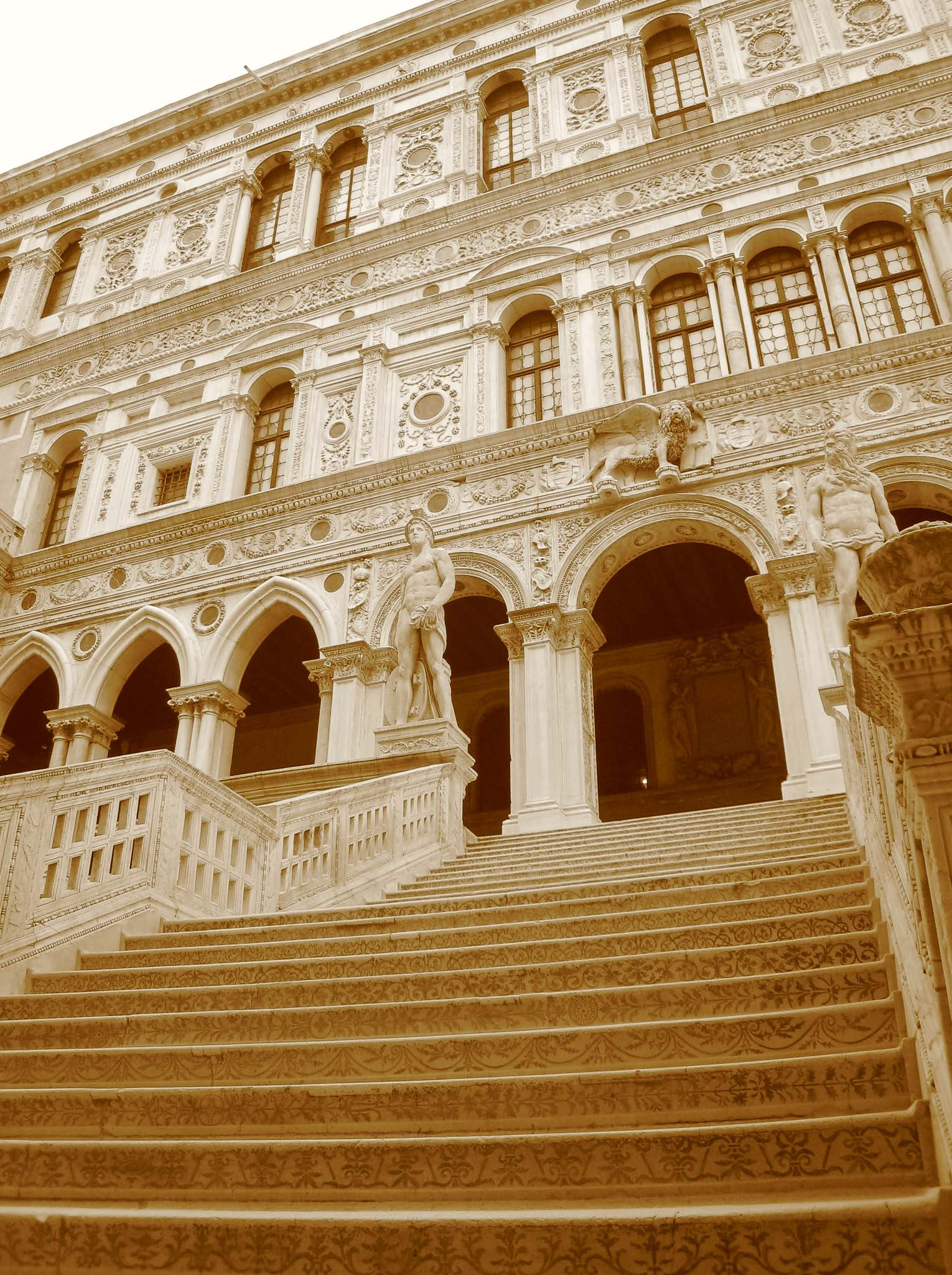 Doge's Palace Inner Courtyard Venice Italy