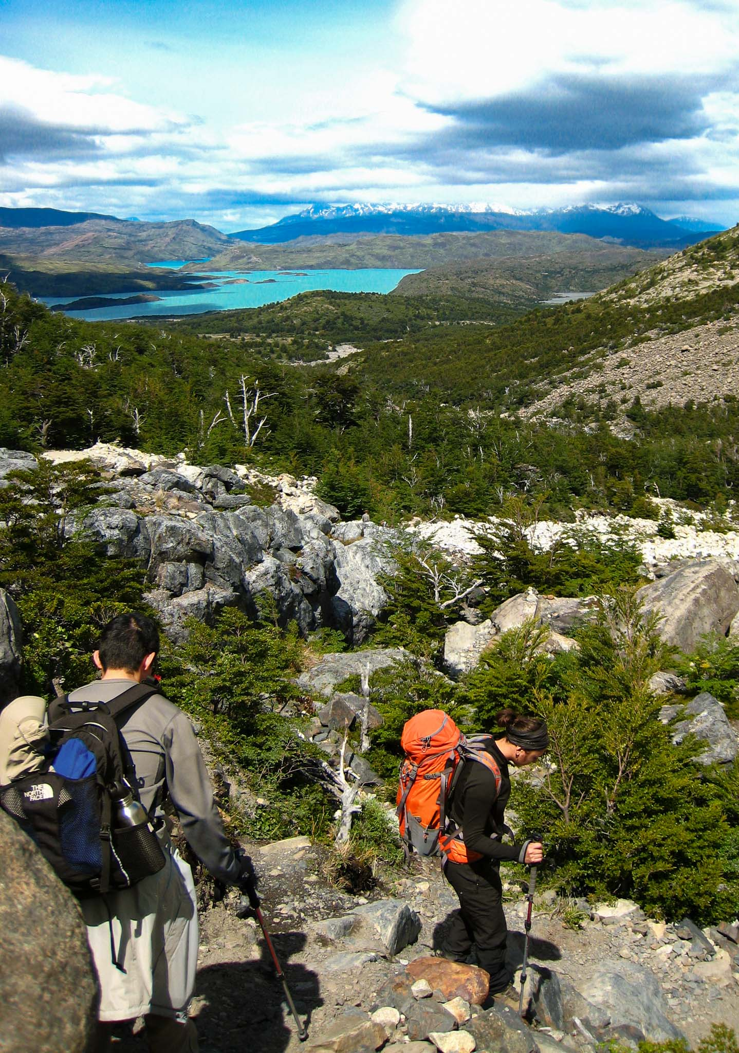 Hiking Boulders Patagonia Chile