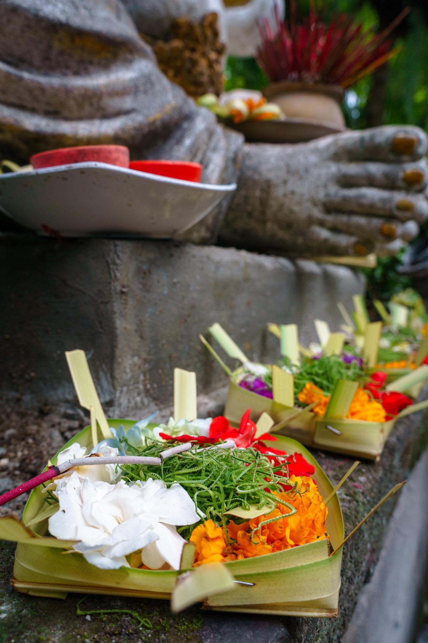 Offering Banten Buddha Ubud Bali