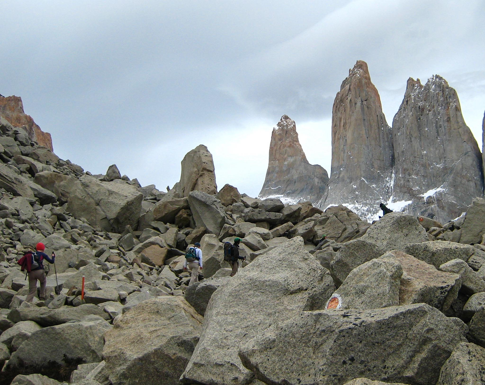 Rock Scramble Towers Patagonia Chile