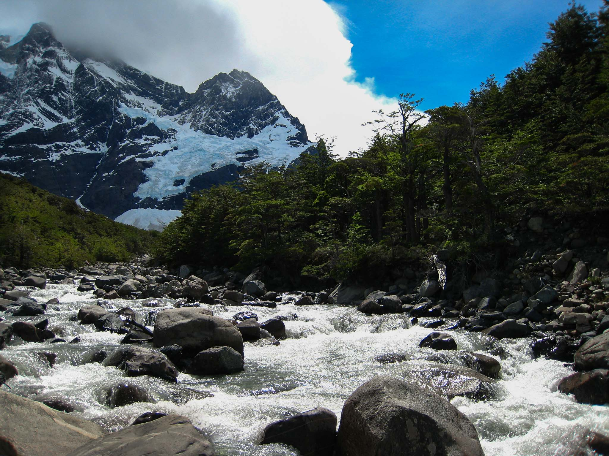 Stream Glacial Patagonia Chile
