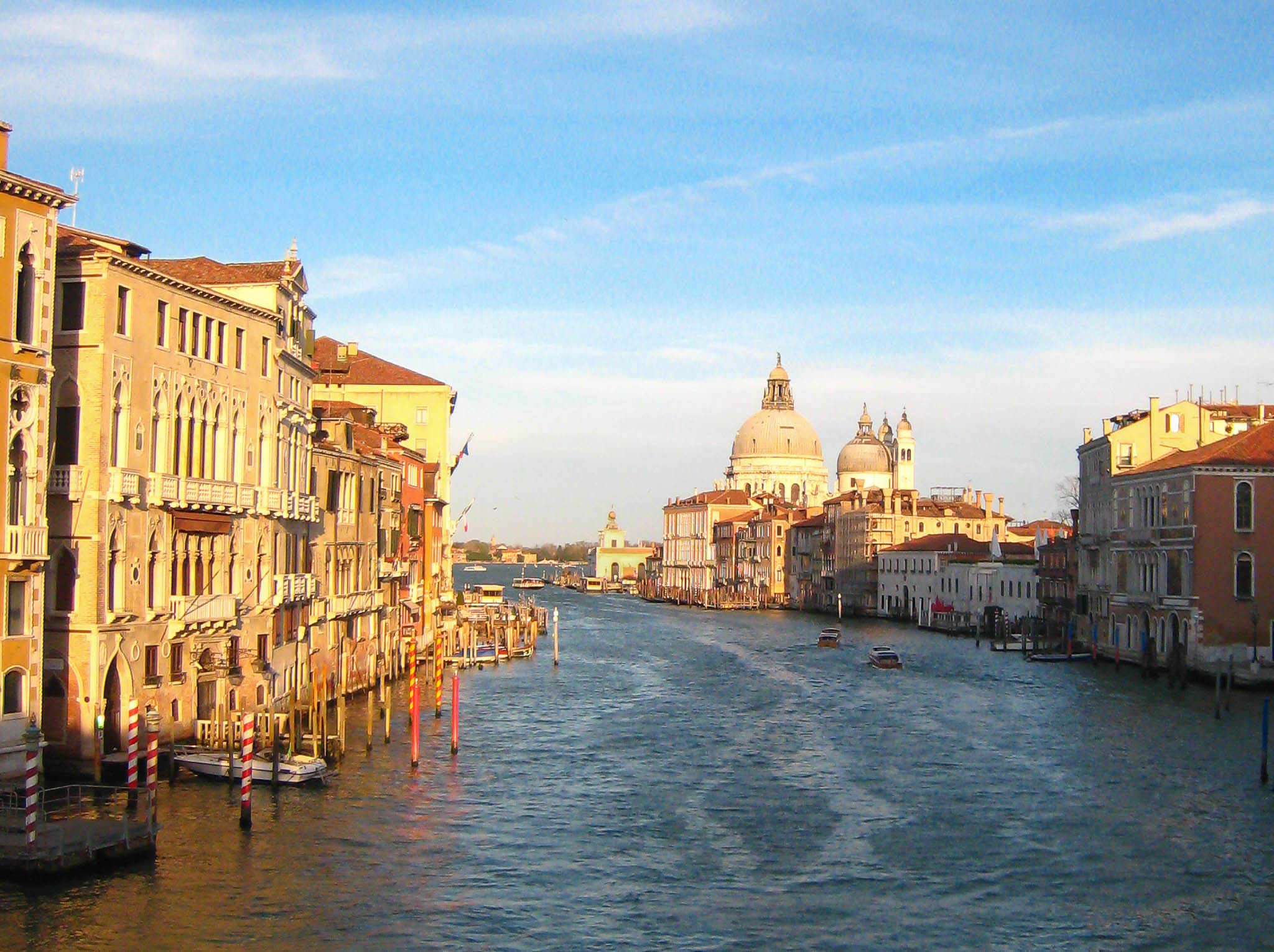 Sunset Grand Canal Heart Venice Italy
