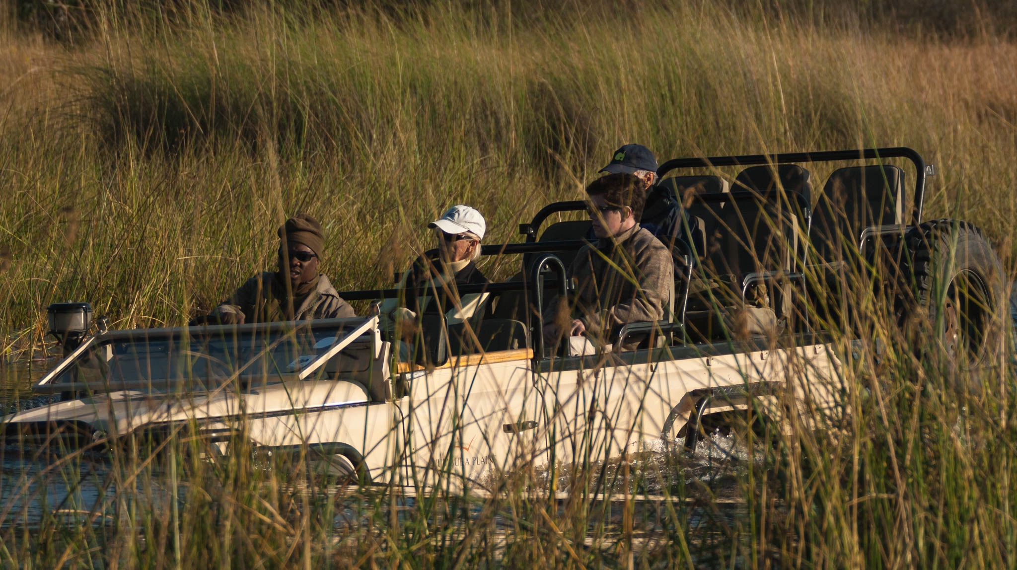 Safari vehicle submerged Botswana