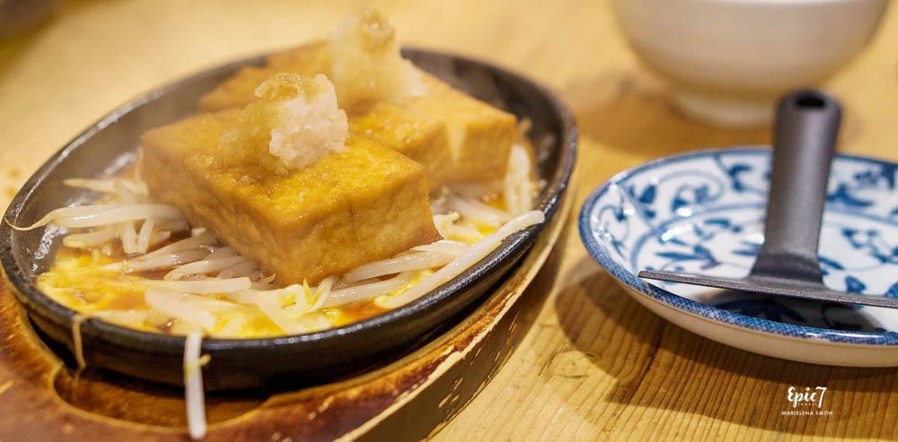 Takayama Food Heianraku Restaurant Tofu Steak with Egg