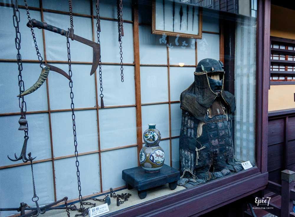 Old Town Takayama Ninja Armor Weapons