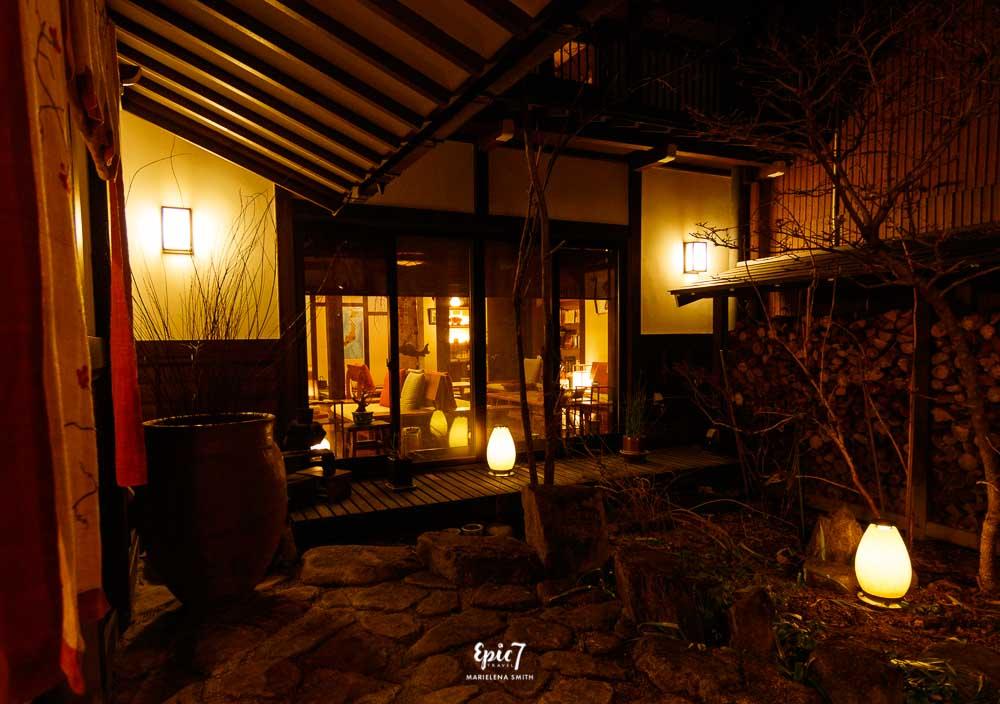 Things to Do in Takayama Ryokan Oyado Koto No Yume Courtyard and lanterns