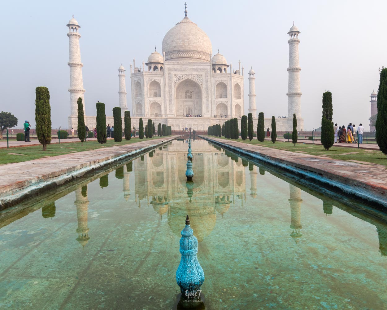 Taj Mahal Photos Reflecting Pool Horizontal