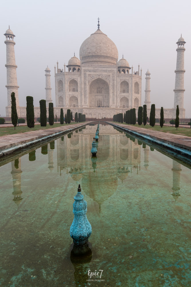 Taj Mahal Photos Reflecting Pool Vertical