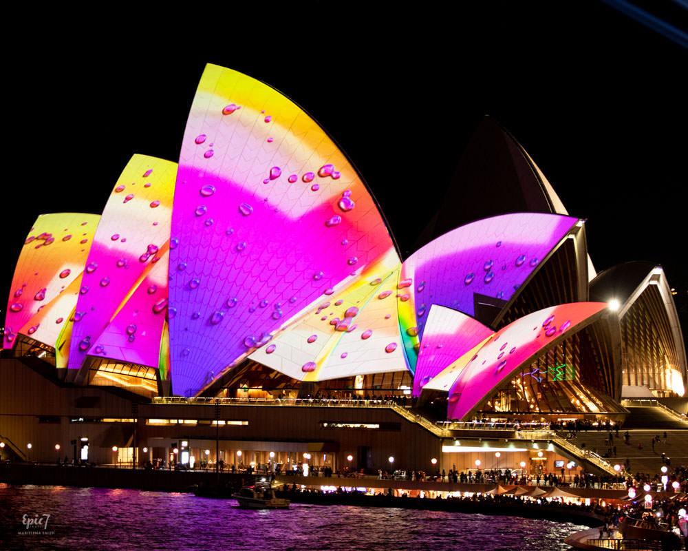 Vivid Sydney Cahill Expressway Opera House Close-Up