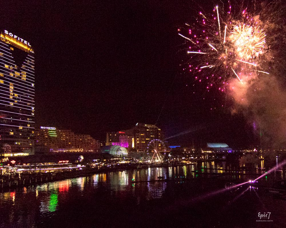 Vivid Sydney Darling Harbor Fireworks