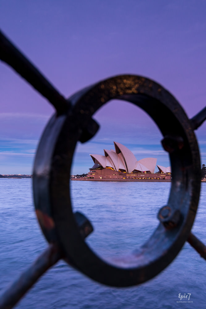 Vivid Sydney Opera House Framed Sunset