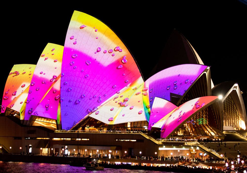 Vivid Sydney Opera House Projection