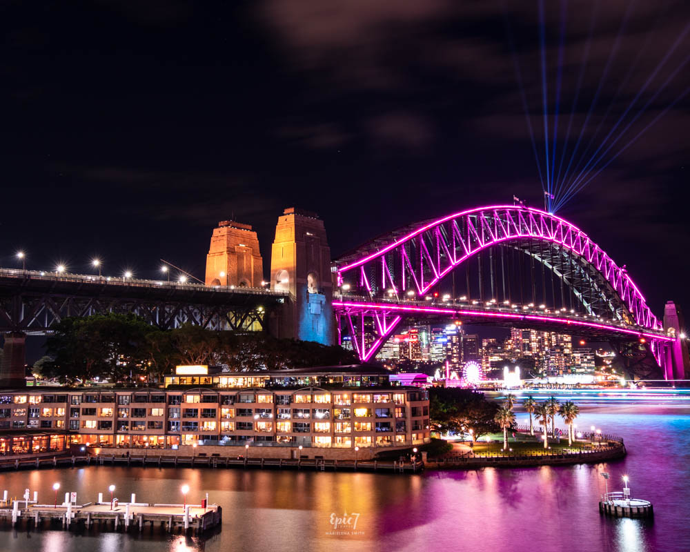 Vivid Sydney Overseas Passenger Terminal Harbor Bridge