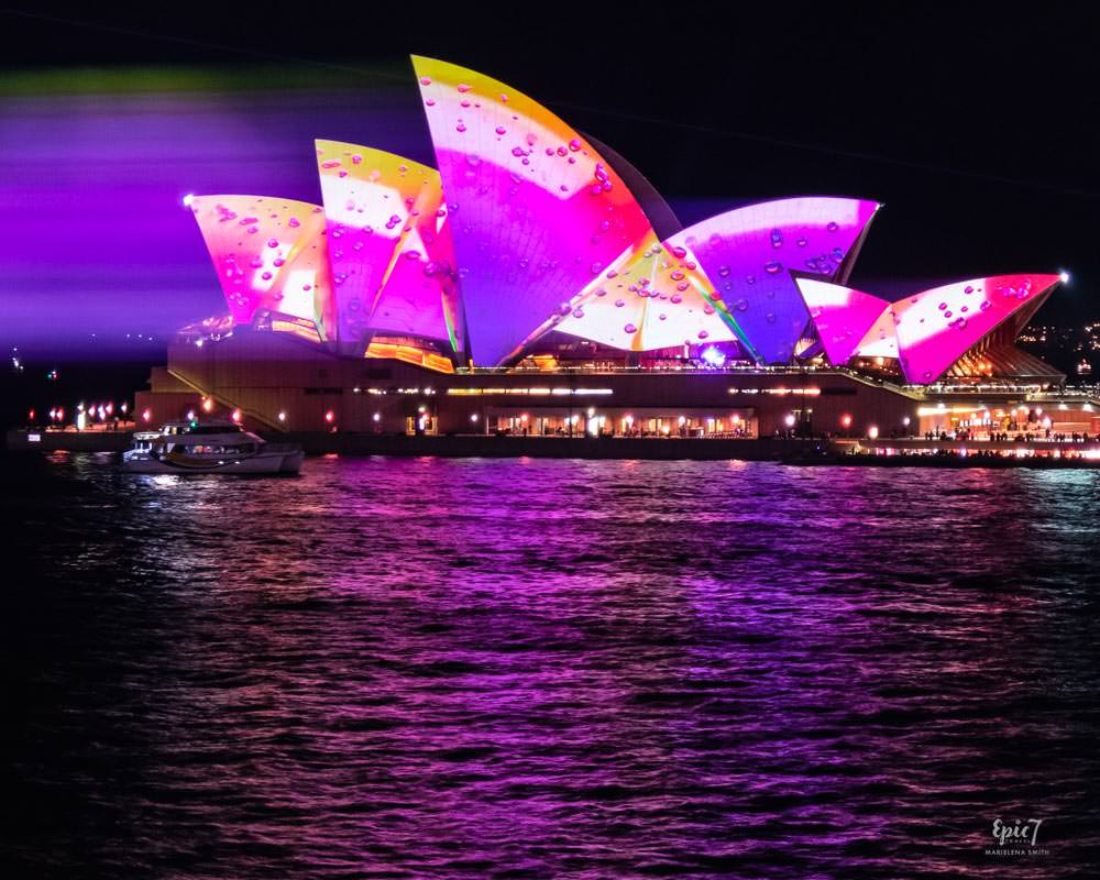 Vivid Sydney Overseas Passenger Terminal Opera House Laser