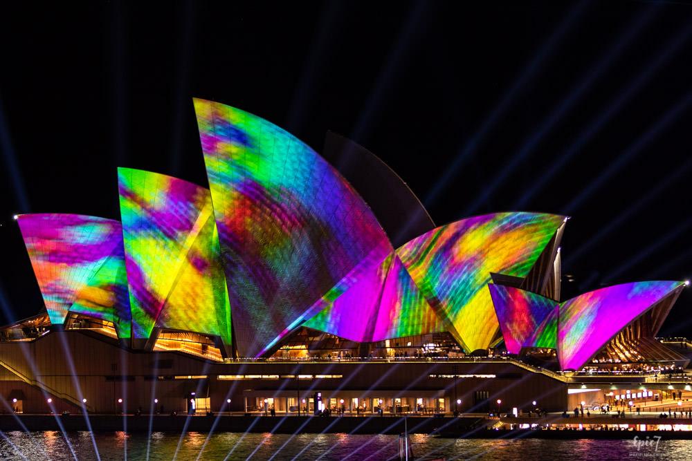 Vivid Sydney Steps Opera House Close-Up