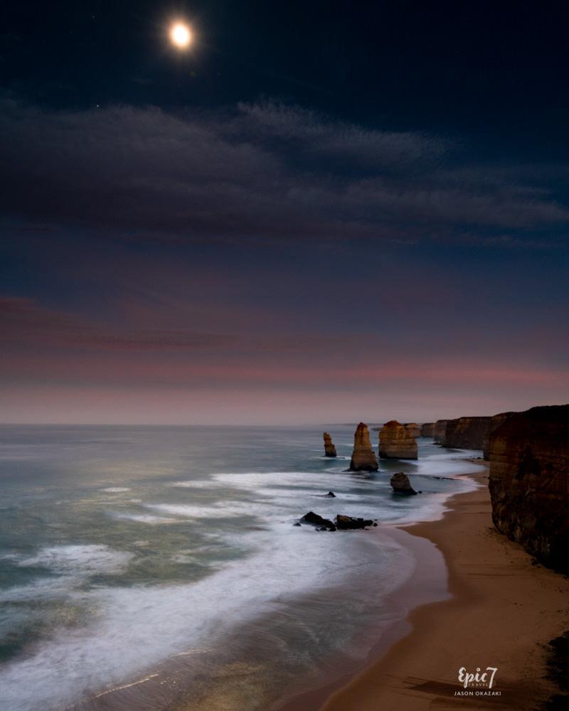 Great Ocean Road_The 12 Apostles_Full Moon