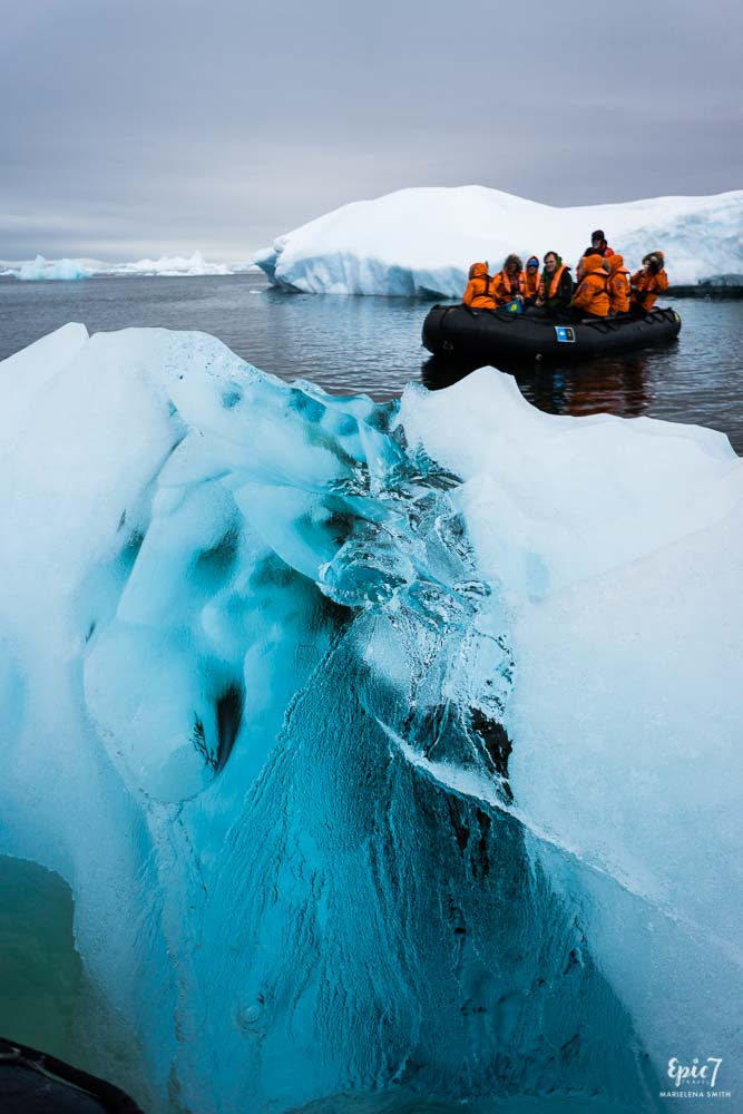 Antarctica Photography Tips_Zodiac Amongst Bergy Bits