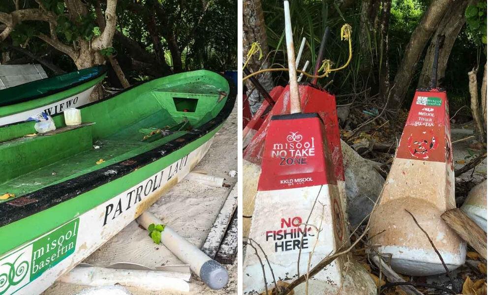 misool eco resort patrol boats and no take buoys raja ampat