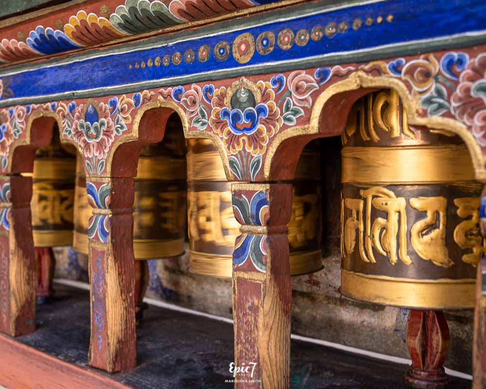 Kitchu Lhakhang prayer wheels Bhutan Blog