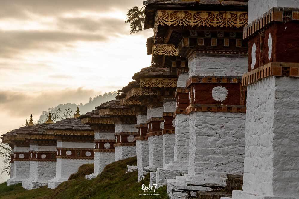 Dochula Pass Stupas at Sunrise