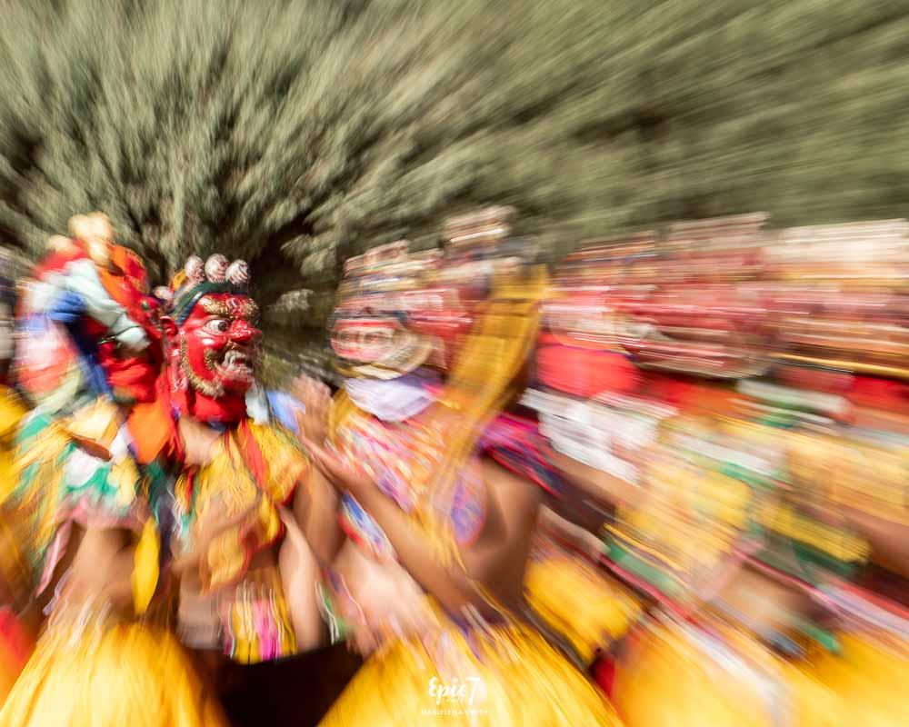 Masked Dancers Bhutan festival
