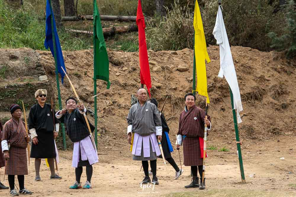 Bhutan Archery competition
