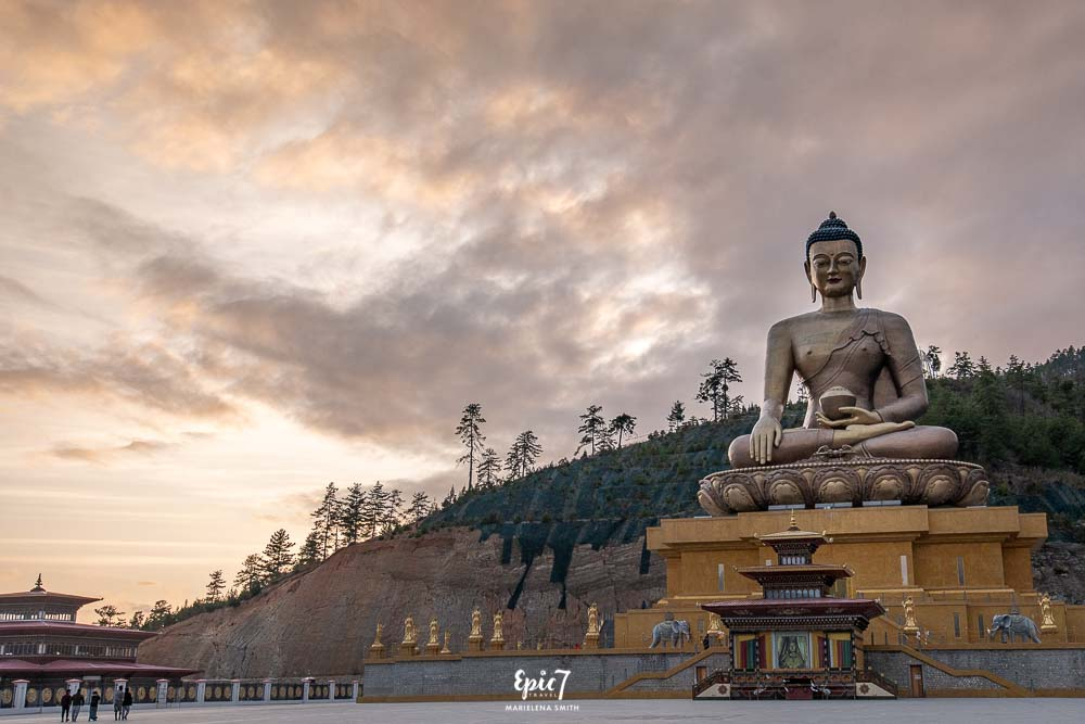 Buddha Dordenma Thimphu at sunset