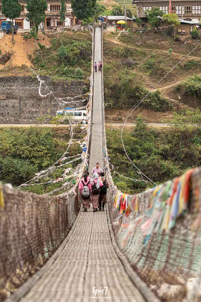 Punakha Dzong Suspension Bridge