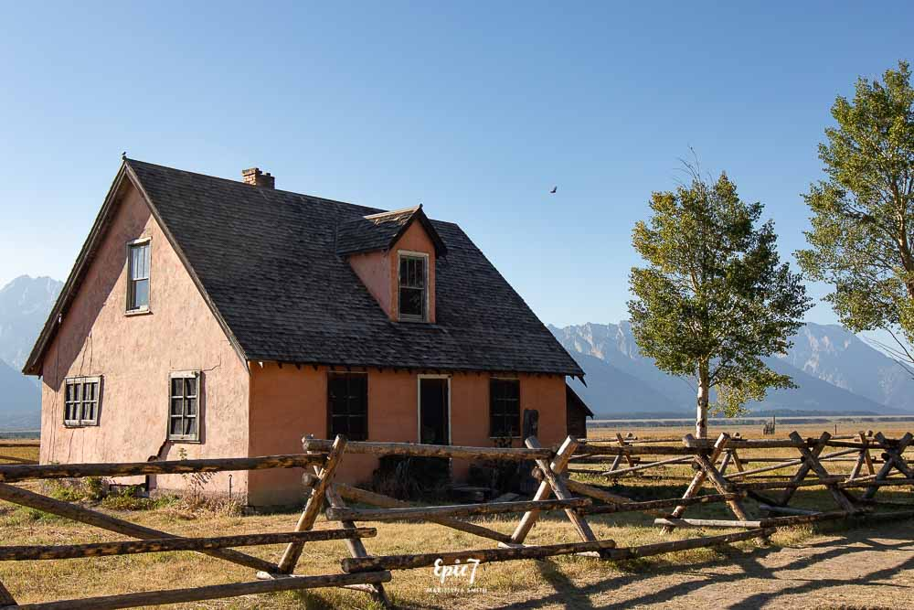 Grand Teton National Park Itinerary John and Bertha Moulton Pink House