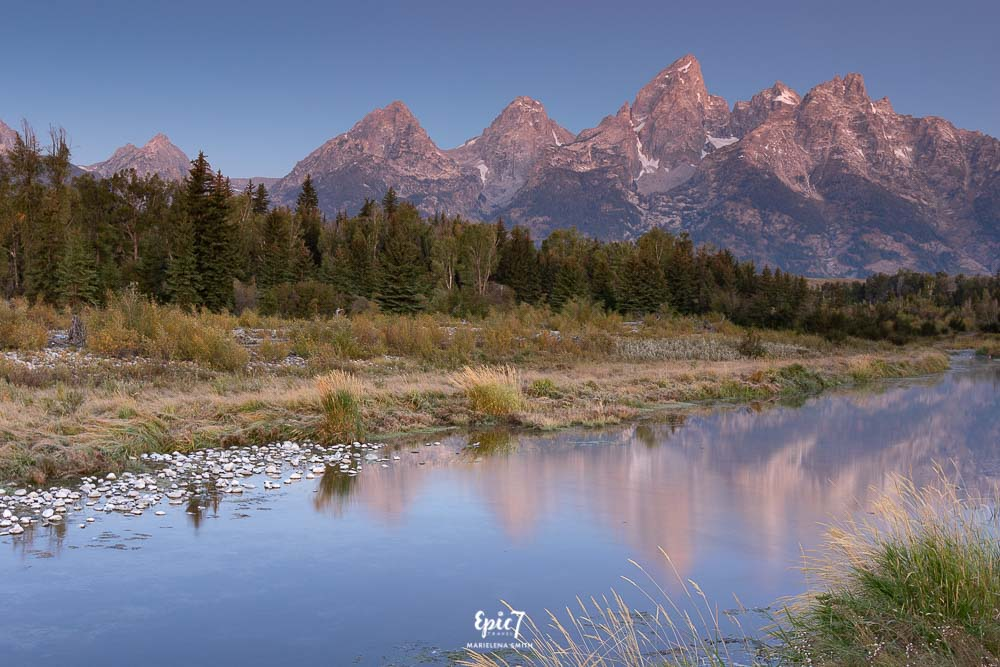 Grand Teton National Park Itinerary Schwabacher Landing Sunrise Reflection