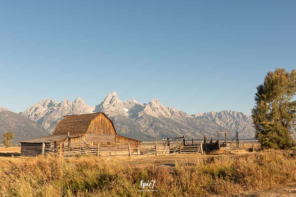 Grand Teton National Park Itinerary John and Bertha Moulton Barn