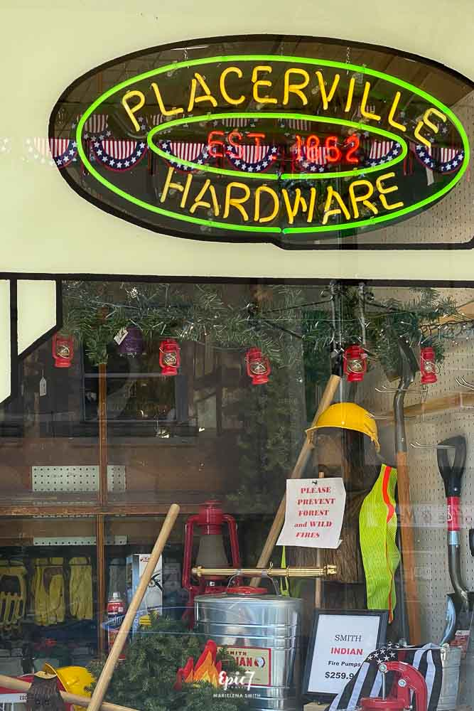 California Gold Rush Towns-Placerville Hardware Sign