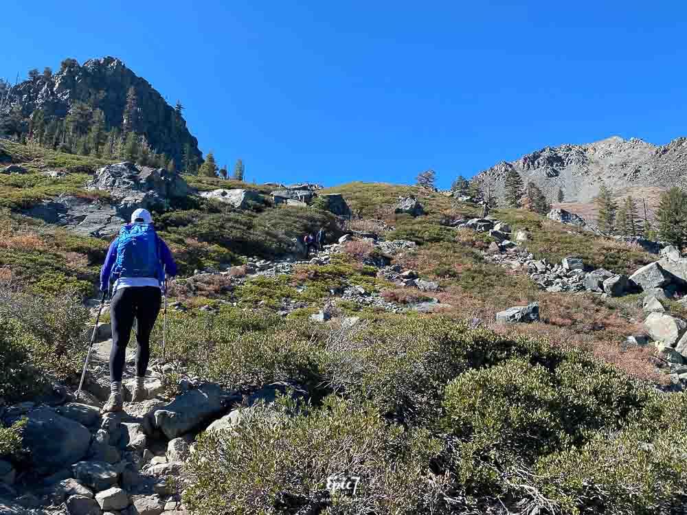Mt Tallac Hike-Heading towards Tallus Field