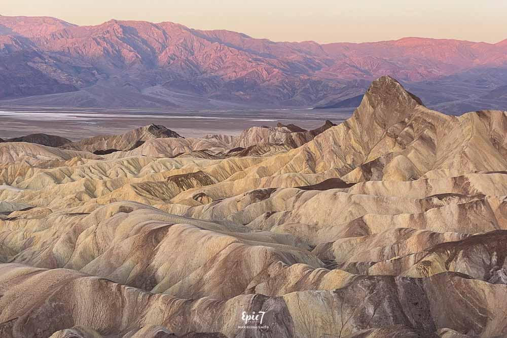 Death Valley Hikes Zabriskie Point Sunrise