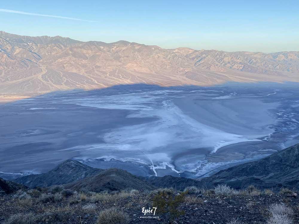 Dante's View panoramic view Panamint range and Badwater basin