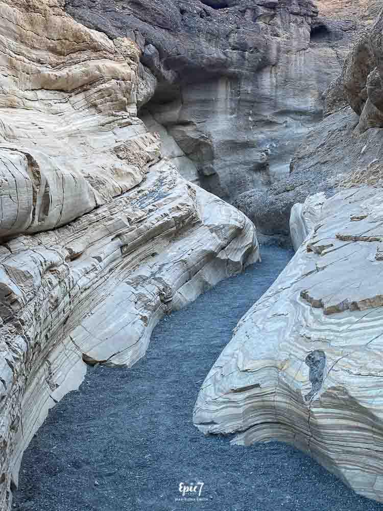 Mosaic Canyon Sculpted Marble Slot Canyon