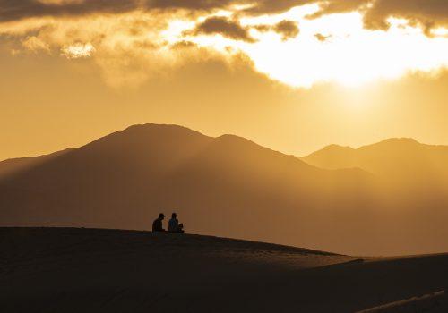 Death Valley Hikes-Silhouette Headline Shot