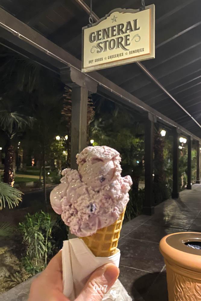 Death Valley Road Trip Huckleberry Ice Cream