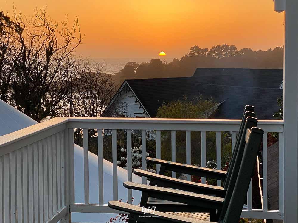 Little River Inn Balcony Sunset