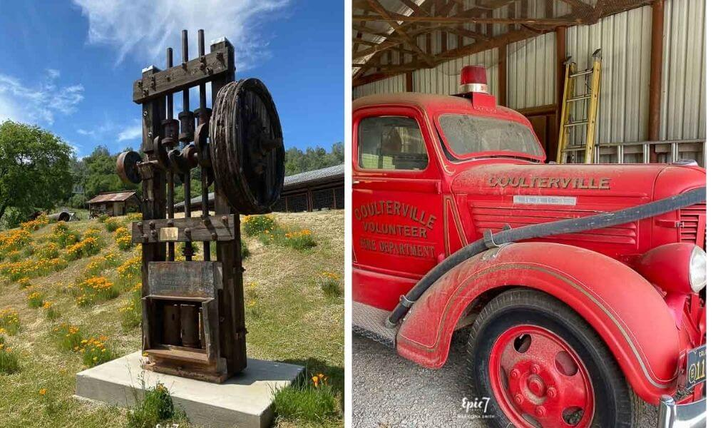 Northern Mariposa Museum and History Center Stamp Mill and  Fire Truck