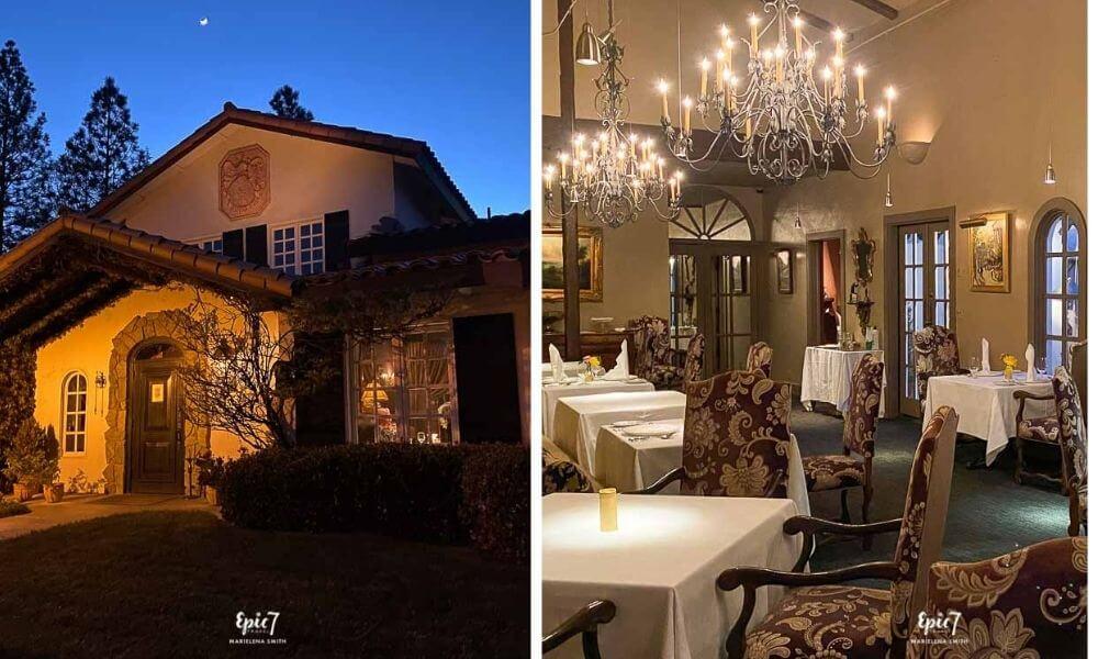 Oakhurst Restaurants Ernas Elderberry House Exterior and Dining Room