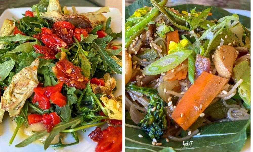 Things to Do In Oakhurst California Idle Hour Kitchen Artichoke Salad and Asian Bowl