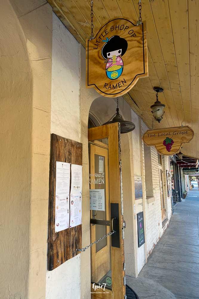 Things to Do Near Yosemite Little Shop of Ramen Mariposa