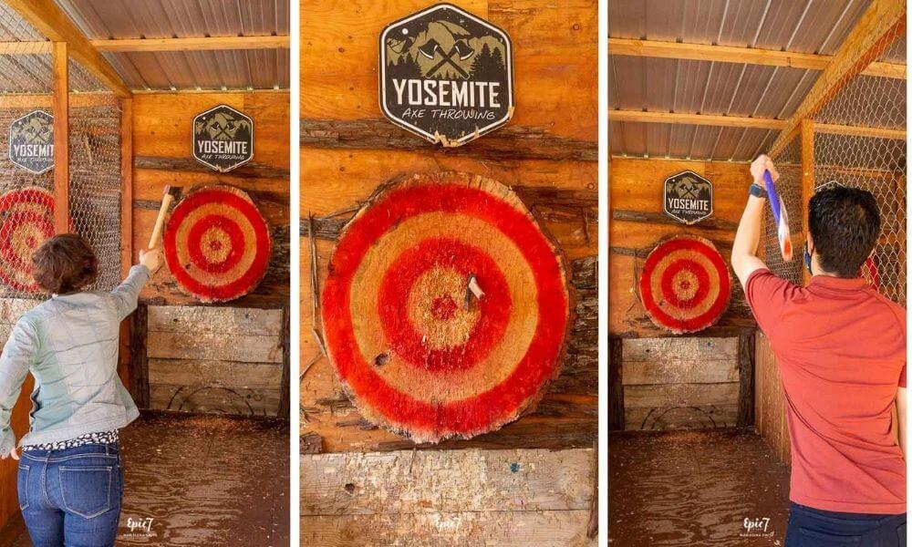 Things to Do in Oakhurst California Yosemite Axe Throwing
