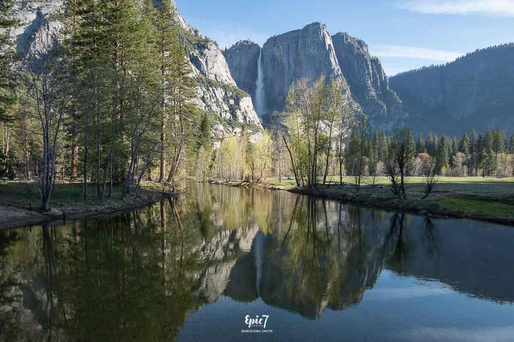 Yosemite National Park Upper Yosemite Falls Reflection