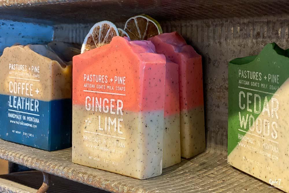 Hometana Ginger Lime Goat's Milk Soap Missoula Montana