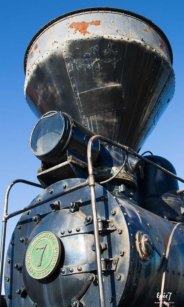 Old Train at Fort Missoula in Missoula Montana